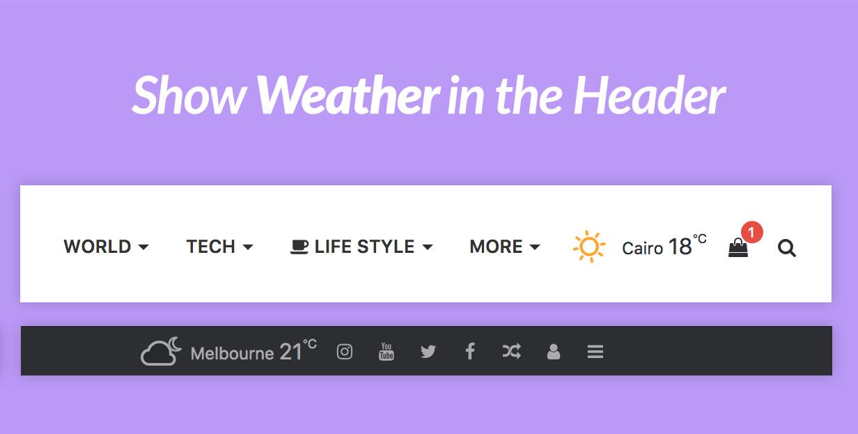 Погода в Заголовке