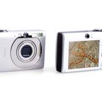 photo camera isolated on white